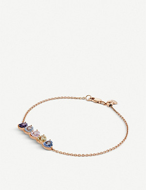 BUCHERER FINE JEWELLERY Pastello 18ct rose-gold and sapphire bracelet