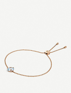 BUCHERER FINE JEWELLERY Peekaboo 18ct rose-gold, aquamarine and diamond bracelet