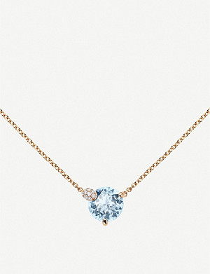 BUCHERER FINE JEWELLERY Peekaboo 18ct rose-gold and aqua necklace