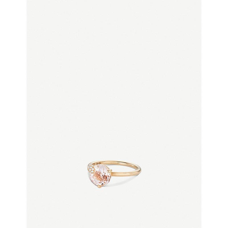 BUCHERER   Peekaboo 18ct Rose-Gold, Morganit And Diamond Ring   Goxip