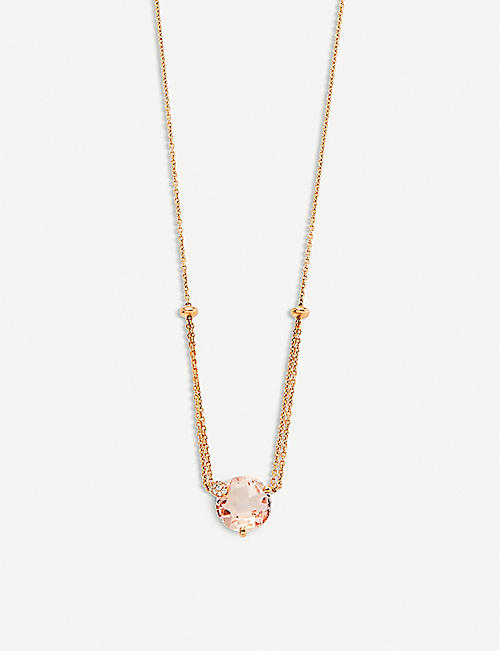 BUCHERER FINE JEWELLERY Peekaboo 18ct rose-gold, morganit and diamond necklace
