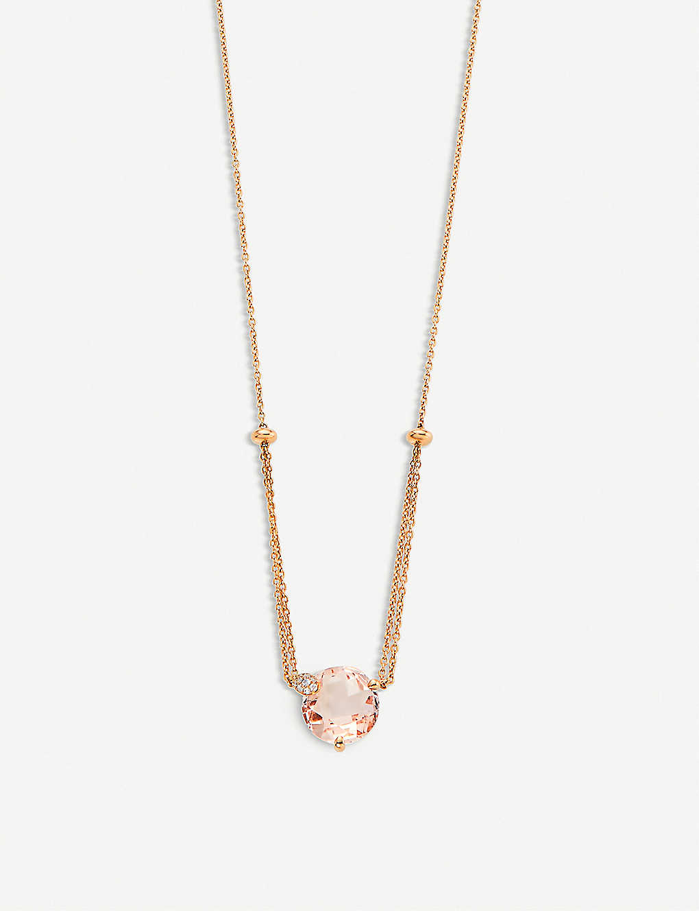BUCHERER FINE JEWELLERY: Peekaboo 18ct rose-gold, morganit and diamond necklace