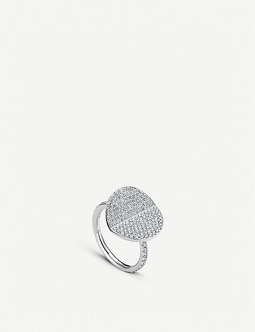 BUCHERER FINE JEWELLERY B Dimension 18ct white-gold and diamond large ring