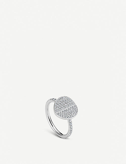BUCHERER FINE JEWELLERY B Dimension 18ct white-gold and diamond ring