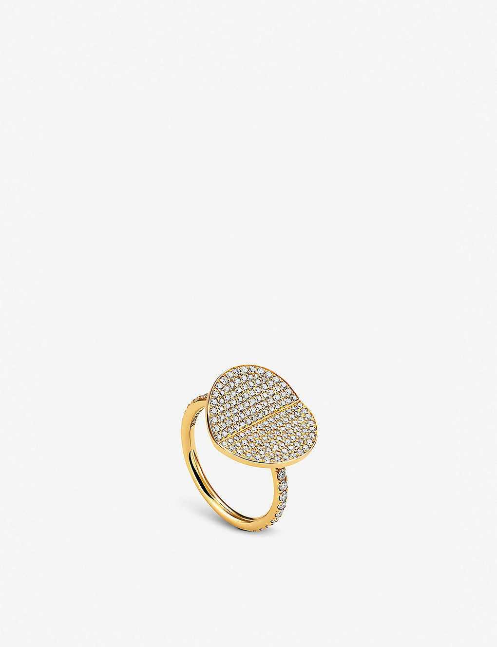 B-dimensions yellow-gold and diamond large ring