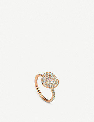 BUCHERER FINE JEWELLERY B-dimensions 18ct rose-gold and diamond ring