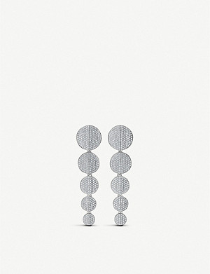 BUCHERER FINE JEWELLERY B-Dimension 18ct white-gold diamond earrings