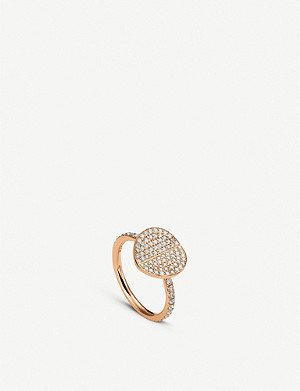 BUCHERER FINE JEWELLERY B Dimension 18ct rose-gold and diamond ring