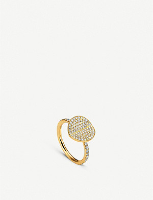 BUCHERER FINE JEWELLERY B Dimension 18ct yellow-gold and diamond ring