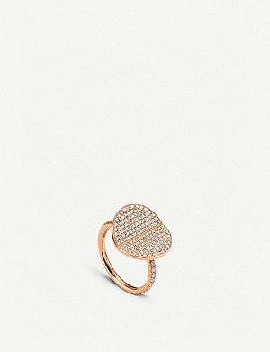 BUCHERER FINE JEWELLERY B Dimension 18ct rose-gold and diamond large ring