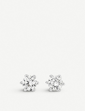 BUCHERER FINE JEWELLERY 18k white gold diamond earrings