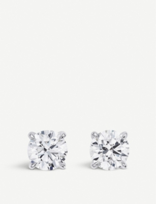 BUCHERER FINE JEWELLERY 18k white-gold diamond earrings