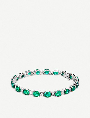 BUCHERER FINE JEWELLERY 18k white-gold and diamond bracelet