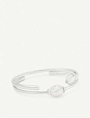 KENDRA SCOTT Amiya 14ct silver-plated and pearl bracelet