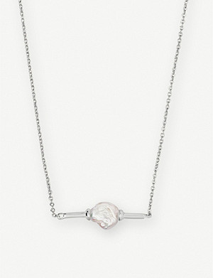 KENDRA SCOTT Emberly silver-plated and pearl necklace