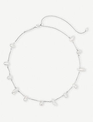 KENDRA SCOTT Krissa silver-plated and pearl choker necklace