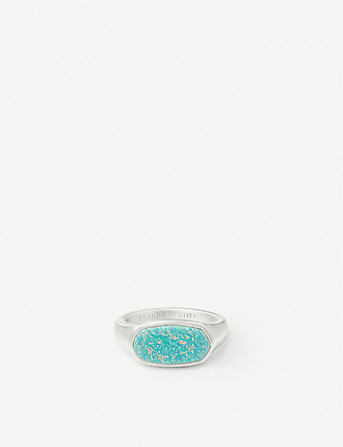 KENDRA SCOTT Mel 14ct silver-plated and Kyocera opal ring