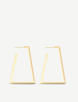 KENDRA SCOTT Easton 14ct yellow gold-plated earrings