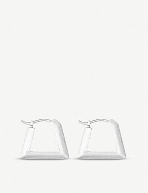 KENDRA SCOTT Renzo 14ct silver-plated huggie earrings
