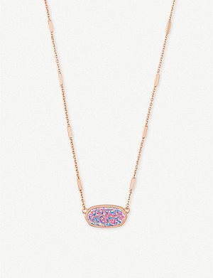 KENDRA SCOTT Miley 14ct rose gold-plated and Kyocera opal necklace