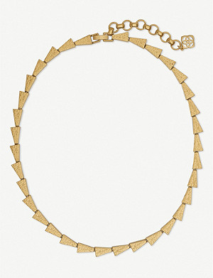 KENDRA SCOTT Leon 14ct gold-plated necklace