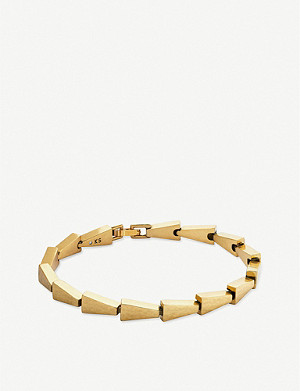 KENDRA SCOTT Leon Link 14ct gold-plated bracelet