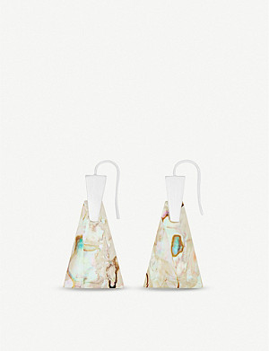 KENDRA SCOTT Collins sterling silver and white abalone earrings