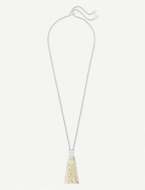 KENDRA SCOTT Collins silver and abalone necklace