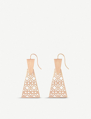 KENDRA SCOTT Keerti 14ct rose gold-plated drop earrings