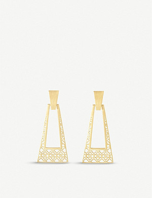 KENDRA SCOTT Kase gold-plated filigree drop earrings