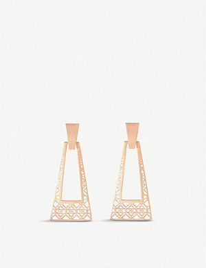 KENDRA SCOTT Kase 14ct rose gold-plated drop earrings