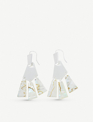 KENDRA SCOTT Rechelle silver-plated drop earrings