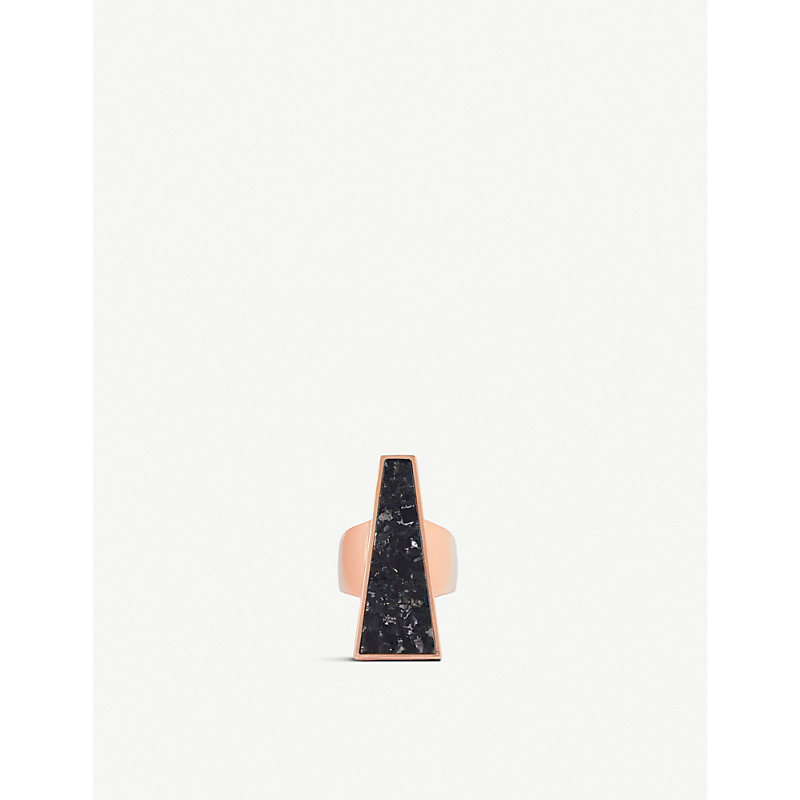 Kendra Scott Rings COLLINS COCKTAIL ROSE GOLD-PLATED AND GRANITE RING