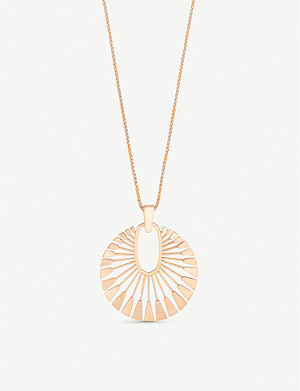 KENDRA SCOTT Deanne 14ct gold-plated brass sunburst necklace