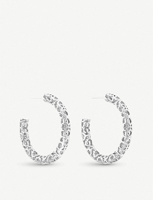 KENDRA SCOTT Maggie silver-plated hoop earrings