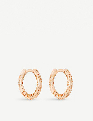 KENDRA SCOTT Maggie 14ct rose gold-plated hoop earring