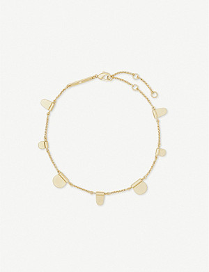 KENDRA SCOTT Tabi 14ct gold-plated anklet
