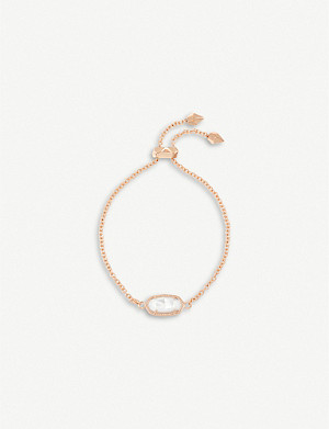 KENDRA SCOTT Elaina 14ct gold-plated and mother-of-pearl bracelet