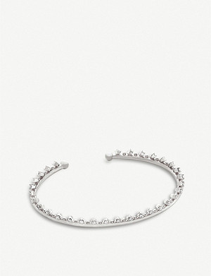 KENDRA SCOTT Codi rhodium-plated and cubic zirconia bracelet