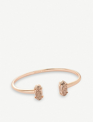 KENDRA SCOTT Edie 14-carat rose gold plated brass cuff bracelet