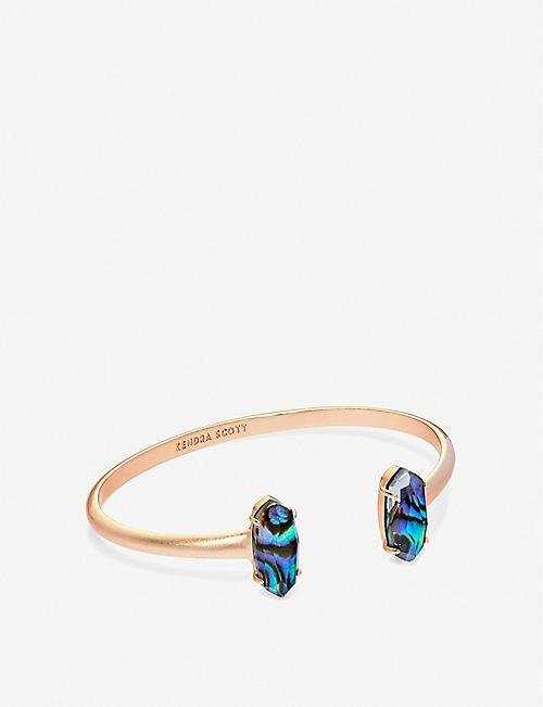 d5129e3ca9c5 KENDRA SCOTT Edie 14-carat rose gold plated cuff bracelet