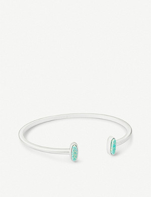 KENDRA SCOTT Mavis 14ct rose gold-plated cuff bracelet