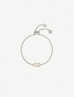 KENDRA SCOTT Everlyne rhodium-plated and mother-of-pearl bracelet