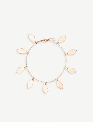 KENDRA SCOTT Pike 14ct rose-gold plated brass pendant bracelet