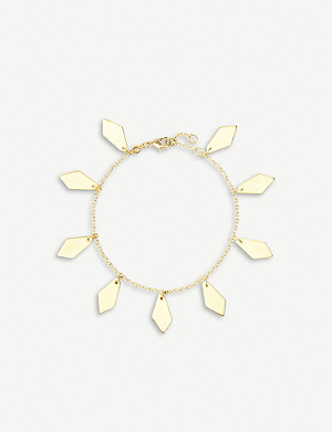 KENDRA SCOTT Pike 14ct yellow-gold plated brass pendant bracelet