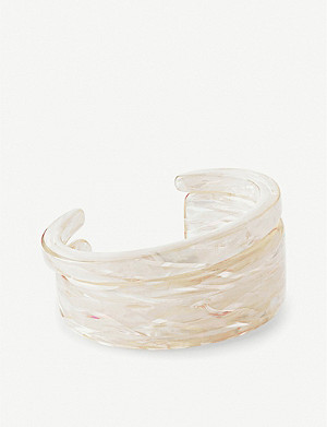 KENDRA SCOTT Kaiden set of two iridescent bracelet cuffs