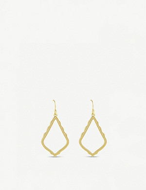 KENDRA SCOTT Sophia 14ct gold-plated drop earrings