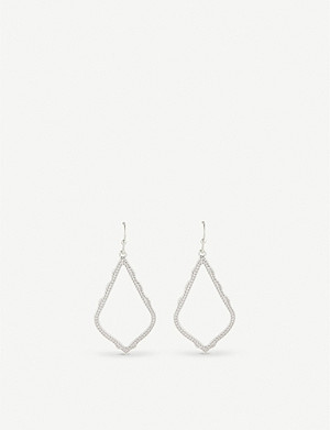 KENDRA SCOTT Sophia rhodium plated drop earrings
