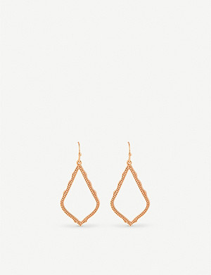 KENDRA SCOTT Sophia rose-gold plated drop earrings