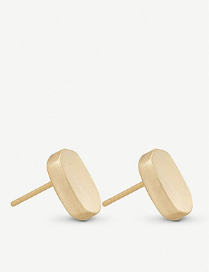 KENDRA SCOTT Barrett 14ct gold-plated stud earrings